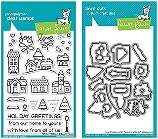 Lawn Fawn Winter Village - Clear Stamp & Die Set - 2 Item Bundle