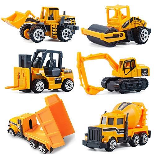 CORPER TOYS ミニカー 6台セット 工事車両 建設車両 作業車両 はたらく車 ショベルカー ダンプカー 車おもちゃ モデルカー 建設現場 コレクション 八歳以上