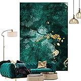 Topinged Inicio Alfombra Moderna Suave Lavable, para Sala de Estar Dormitorio Cocina Silla Alfombra Habitación para niños Moda Verde Oscuro Verde Esmeralda-El 160 * 230cm