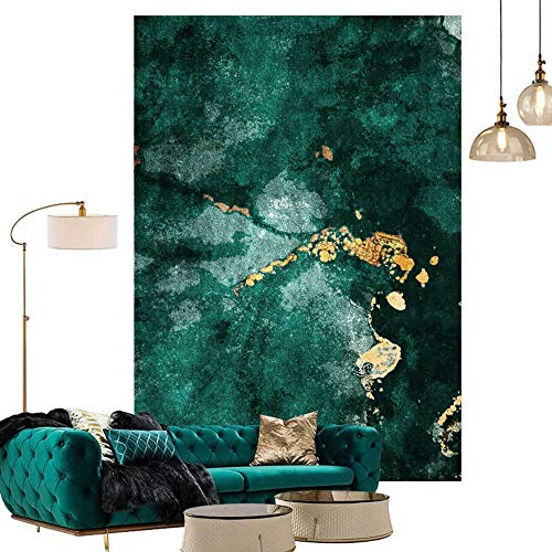Topinged Home Modern Rug Soft Washable,for Living Room Bedroom Kitchen Chair Mat Kids Room Fashion Dark Green Emerald Green-150 * 200CM
