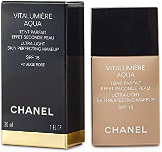 Chanel Vitalumiere Aqua Ultra Light Skin Perfecting M/U Spf15# 42 Beige Rose 30Ml/1Oz