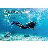tauchza Uber · DIN A4· Premium Calendario 2019· Bajo el agua · bucear · peces · Mar · Set de regalo con 1tarjeta de felicitación y 1Tarjeta de Navidad (· Edition Alma mágica