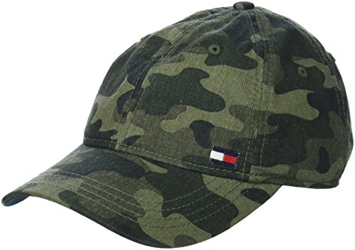 Tommy Hilfiger Men's Dad Hat Billy Corner Flag Cap, Camo, O/S