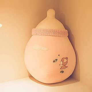 赤ちゃん ぬいぐるみ だきまくら 哺乳瓶 リアル ふわふわ 可愛い 添い寝 子供 なだめる 柔らかい 部屋飾り ピンク グレー お祝い ギフト 贈り物 多機能 ストレース解消 ピンク55cm