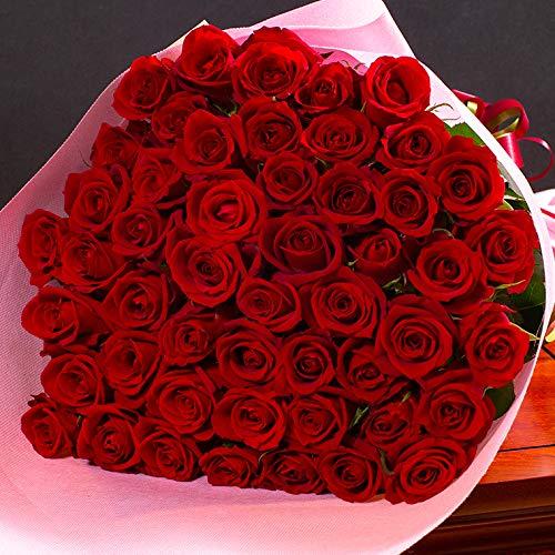 バラギフト専門店のマミーローズ 選べるバラ本数セレクト 還暦祝い 誕生日 プロポーズ 贈り物の豪華なバラの花束(生花) 赤 60本