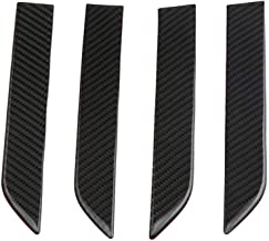 Decdeal Door Handle Cover 3D Real Carbon Fiber Protector Sticker Fitment for Tesla model x 2016-2018