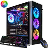 CUK Stratos Gamer PC (Liquid Cooled Intel Core i9-9900K, NVIDIA GeForce RTX 2080 Ti, 32GB RAM, 1TB NVMe SSD + 2TB, 750W Gold PSU, Z390 Motherboard, Windows 10) Best Tower Desktop Computer for Gamers
