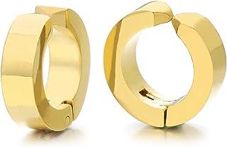 NKlaus pair 375 yellow gold Creole earrings earrings 15mm 3756