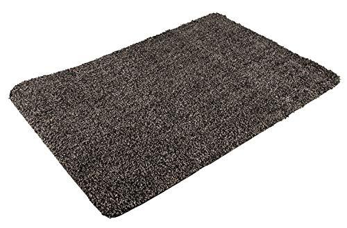 PANA® schoonloopmat deurmat deurmat deurmat vuil afveegmachine (70x45cm) - zwart/grijs