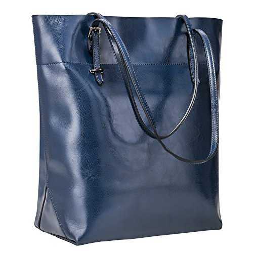 S-ZONE Vintage Genuine Leather Tote Shoulder Bag Handbag Big Large Capacity 2.0