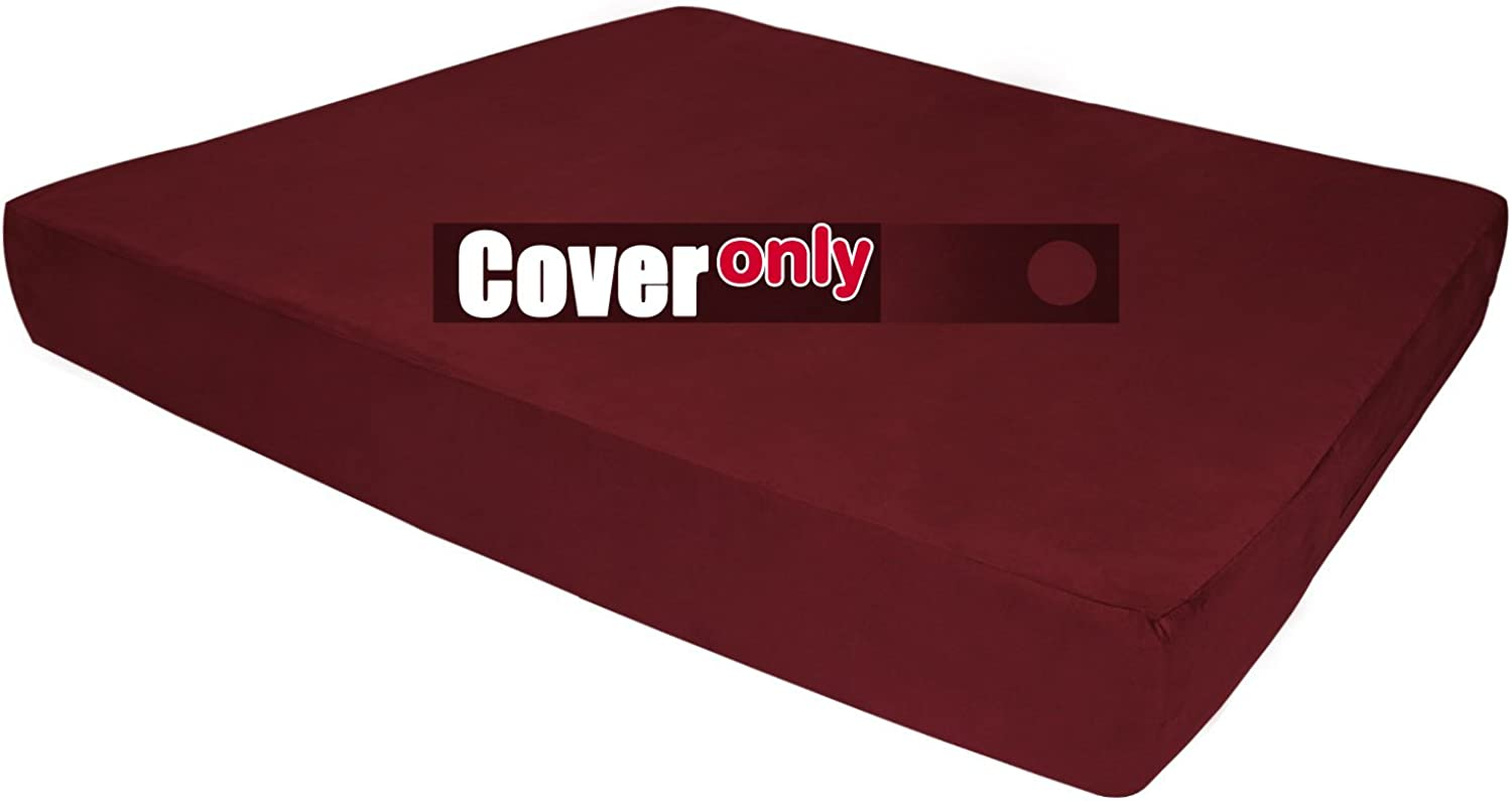 Replacement Cover for Big Barker Sleek Edition  Large  Burgundy