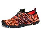 SAGUARO Zapatos de Agua Escarpines para Niños Secado Rápido Zapatillas de Playa Piscina Naranja 36