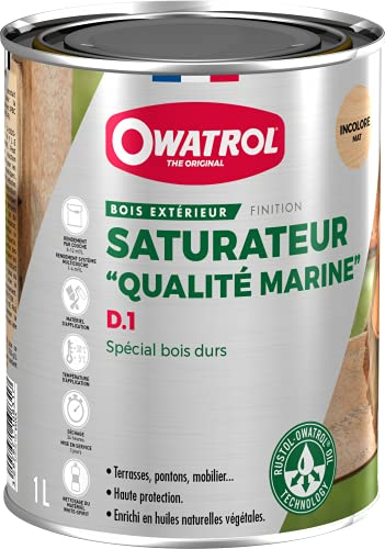 Owatrol Deks Olje D1 Protettivo ad alta penetrazione per legni tropicali in interni ed esterni,...