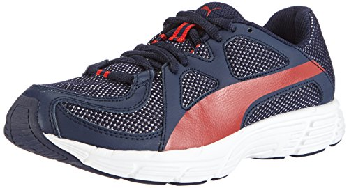 PUMA Herren Axis v3 Mesh Low-Top, Blau (Peacoat-high Risk red 07), 45 EU