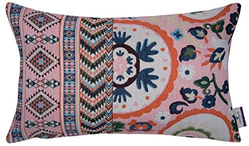 Tom Tailor T-Fantasy Ethno kussenhoes, katoen, rosé/multi, 35 x 55 x 0,05 cm