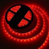 5M Bandes LED Flexibles 12V, Ruban LED,Rouge, 300 unités 5050 SMD LEDs, Imperméable IP65, décoration luminaire d'intérieur,...