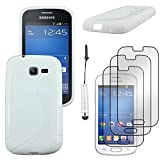 ebestStar - Compatible Coque Samsung Galaxy Trend Lite S7390 S7392 Etui Housse Silicone Gel TPU Souple Motif S-Line + Mini Stylet...