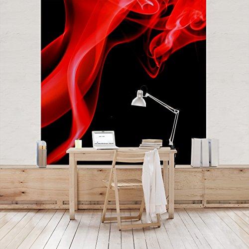 Apalis Vliestapete Magical Flame Fototapete Quadrat | Vlies Tapete Wandtapete Wandbild Foto 3D Fototapete für Schlafzimmer Wohnzimmer Küche | Größe: 288x288 cm, rot, 97817