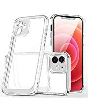 """for iPhone 12 Case,with Screen Protector Slim HD Crystal Transparent Lifeproof Bumper Case for Apple iPhone 12 6.1"""" (Clear)"""