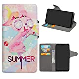 Asus Zenfone Max Pro (M2) Leder hülle,HHDY Painted Muster Wallet Handyhülle mit Kartenfächer/Standfunktion Hülle Cover für Asus Zenfone Max Pro (M2) ZB631KL,Pink Rabbit