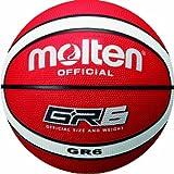 molten Basketball - Pelota de baloncesto, color rojo/blanco, talla 6