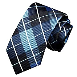 Voberry mens Classic Striped Tie Grid Necktie Tie Neck Tie ManS Silk Tie Necktie