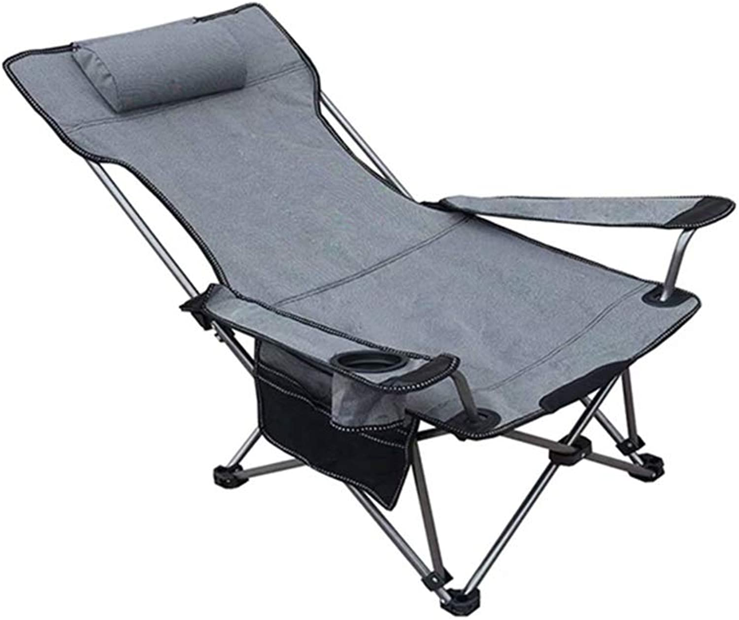 HPLL Folding Reclining Chair Camping Deck Chairs, Portable Deck Chairs for Indoor Office Lunch Break Lazy Couch Backrest Lounge Chairs Outdoor Wild Beach Sun Camping Garden Deck Reclining Recliner Zer