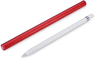 حامل حافظة أقلام أبل، ICARER حقيبة حمل واقية نحيفة من الجلد المحمول غطاء الحقيبة لآبل آيباد برو قلم أحمر (أحمر)