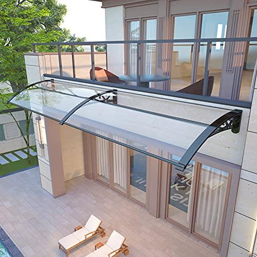 QYQPB Marquesina para, Toldo de Dosel, Protector de Lluvia Transparente Silencioso de Aleación de Aluminio, Visera de PC para Patio de Villa (Size : 60 * 80cm)