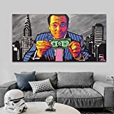 N/A Wall Art Canvas Decorative Painting Graffiti Art Wolf of Wall Street Poster Painting Picture Canvas Paintings Wall Art for Living Room Home Decor-60x80cm
