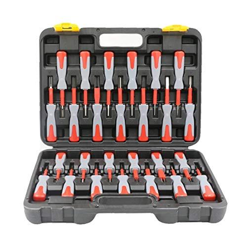 Kit de liberación de terminales de 26 piezas, extractor de engarzado de terminales de coche, herramienta manual de reparación de automóviles, conector de cable, liberación de clavijas para reparación