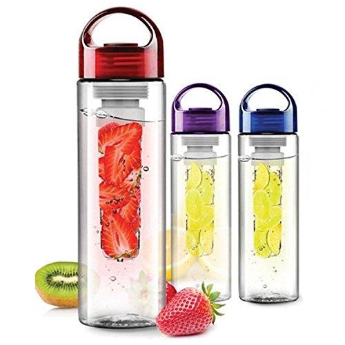 Sentik 700ml FRUITS fuzer pour infusion dSport bouteille deau à infuseur Sante jus Machine rouge Rouge