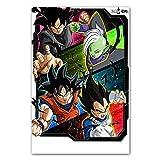 AQgyuh Puzzle 1000 Piezas Pintura nórdica del Arte de la Imagen de Goku Puzzle 1000 Piezas Animales Gran Ocio vacacional, Juegos interactivos familiares50x75cm(20x30inch)