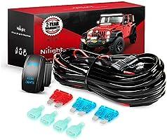 Deal on Nilight - 10012W LED Light Bar Wiring Harness Kit REAR LIGHTS 12V 5Pin Rocker Switch Laser On off Waterproof...