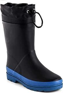 Zefani Kids Waterproof Rubber Rain Boots for Girls, Boys & Little/Big Kids with Fun Prints & Buckle