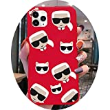 Lagerfeld luxury KARLS Phone Case for iphone 12 pro max mini 11 pro XS MAX 8 7 6 6S Plus X 5S SE 2020 XR red case,a2,For iPhone 12 pro