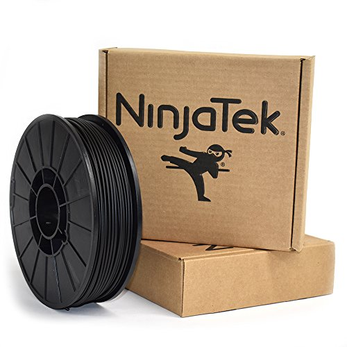 NinjaTek 3DNF01129010 NinjaTek NinjaFlex TPU Filament, 3.00mm, TPE, 1kg Midnight (Black) (Pack of 1)