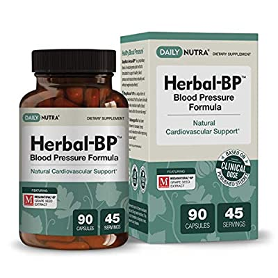 Herbal-BP Natural Blood Pressure Supplement by DailyNutra - Supports Cardiovascular Health & Stress Management | Medical Grade Plant Extracts - Safe, Long-Term Support (90 Capsules) from DailyNutra
