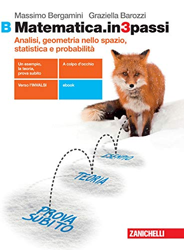 Matematica.in3passi. Vol. B: Analisi, geometria nello spazio, statistica e probabilità. Per le Scuole superiori. Con e-book. Con espansione online