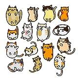 Solnoa - 15 Parches para Planchar Gato, Parches Gatos para Niños Niña, Parche Bordado para Bebé, Parches de Coser para Ropa, Jeans (Naranja, Blanco)