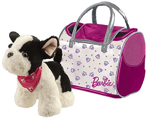 Muñeco de bulldog francés con mochila de transporte