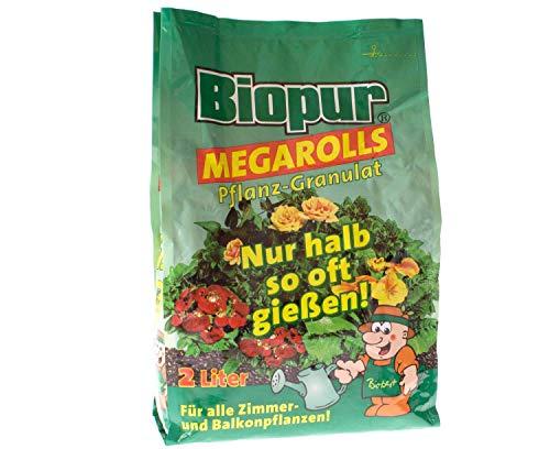Biopur Megarolls 2 Liter - Pflanzen Granulat für Zier-, Balkon-, und Terrassenpflanzen