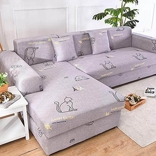 Funda de sofá elástica, Utilizada para la decoración de la Sala de Estar, Funda de sofá de impresión, Suave, Universal, Funda elástica de sección Transversal A16 de 3 plazas
