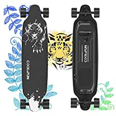 COOL & FUN: Electric longboard brings you beautiful scenery, designing for happy time and cool cruising. Buy it now and begin joyful journey of electric longboard.(Maintain safety with UL certified battery) MULTIFUNCTIONAL REMOTE: Portable electric s...