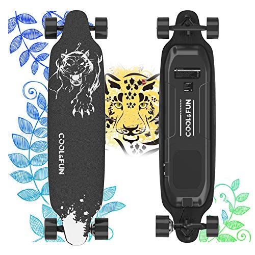 Fantastic Deal! URBANPRO Electric Skateboard with Remote Control, 400W Brushless Motor Longboard, 20...