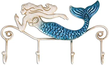 YWH-WH Wall Decoration Creative Home Decoration Metal Iron Hook Mermaid Retro Living Room Wall Hook