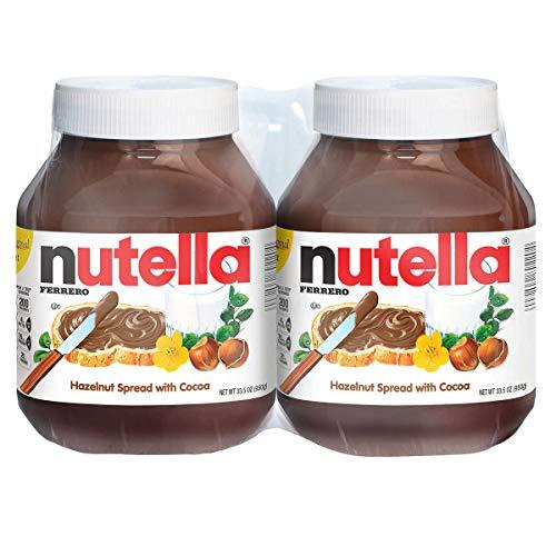 Nutella Hazelnut Spread, 33.5 oz each, 4 Count