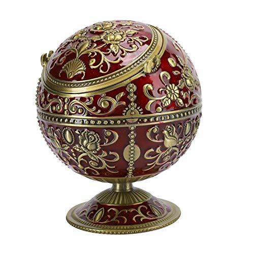 con tapa, cenicero a prueba de viento, cenicero, cenicero de bola, retro, para adorno artesanal para la decoración del hogar