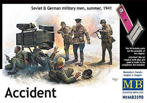 Master Box Model Kit - Soviet & German Military Men Accident - 1:35 Scale - 3590