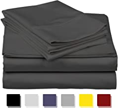 Infiniti Collection Authentic Heavy Quality 4 Piece Hotel Luxury Soft Egyptian Cotton 1500 Thread Count Series Premium Bed Sheets Set, Fits 14-18 Inch Deep Pockets (Queen, Dark Grey)